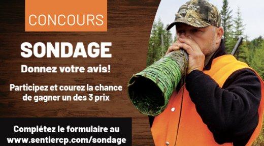 Sentier Chasse Pêche vous offre un concours d'une valeur de 4000$