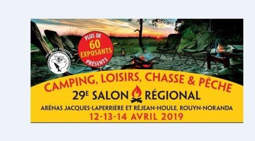 Salon régional camping, loisirs, chasse et pêche de Rouyn Noranda du 12 au 14 avril
