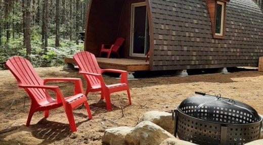 La ZEC Chapeau-de-Paille a aménagé un tout nouveau site de prêt-à-camper