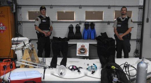 Braconnage de homards : deux plongeurs arrêtés à Baie-Comeau
