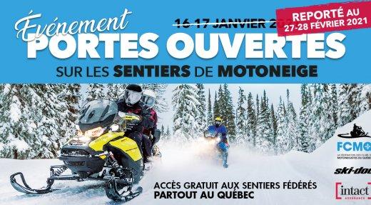 Portes ouvertes sur les sentiers de motoneige reportées au 27-28 février