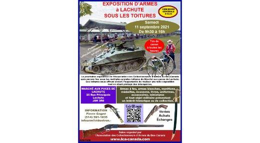 Une exposition d'armes au Marché aux Puces de Lachute!