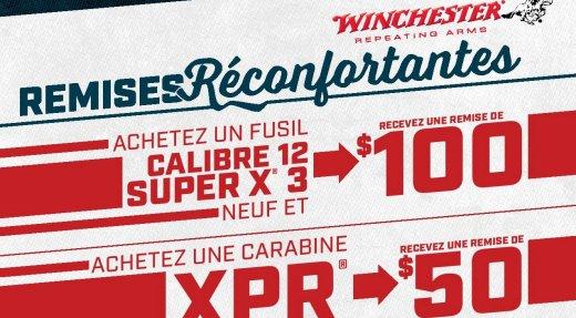 Remises printanières Winchester + Promo Dindon