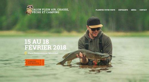 Salon Plein air, Chasse, Pêche et Camping de Montréal du 15 au 18 février