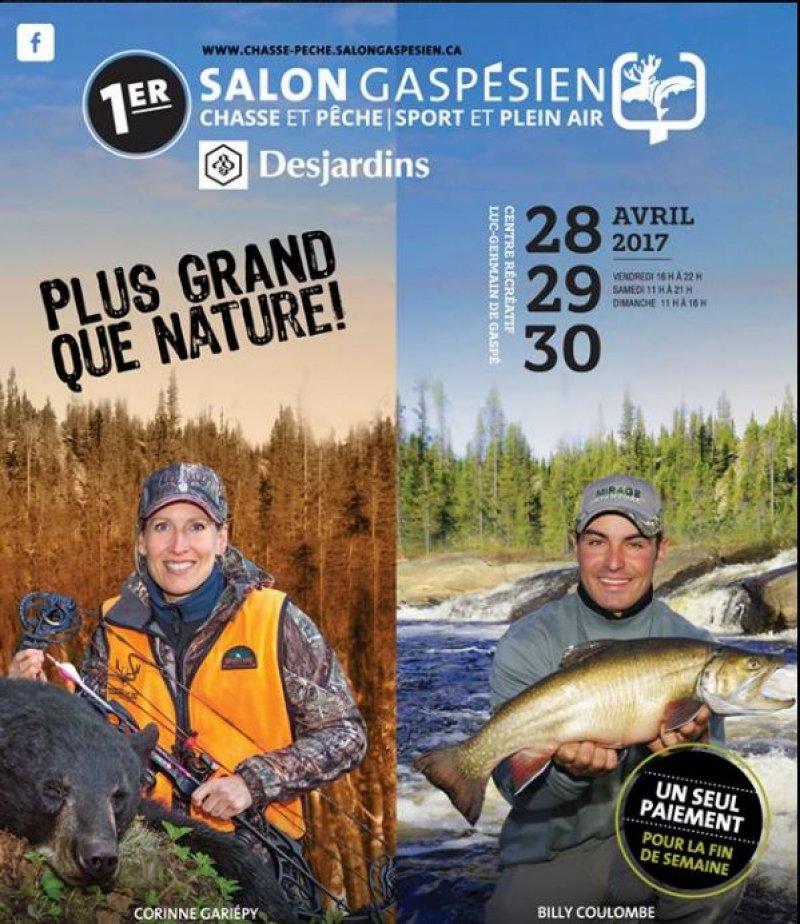 Ne manquez pas le 1e salon gasp sien chasse et p che sport et plein air par la direction - Salon de la chasse et peche ...